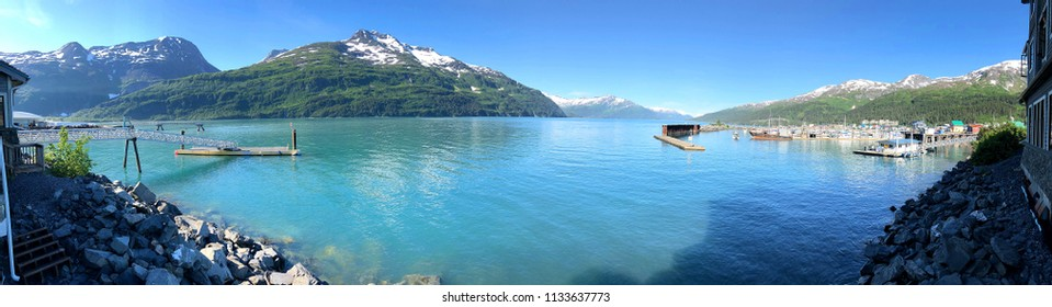 Panoramic view of Whittier Alaska