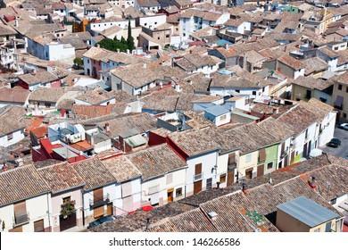 Panoramic view of Xativa, Valencia, Spain
