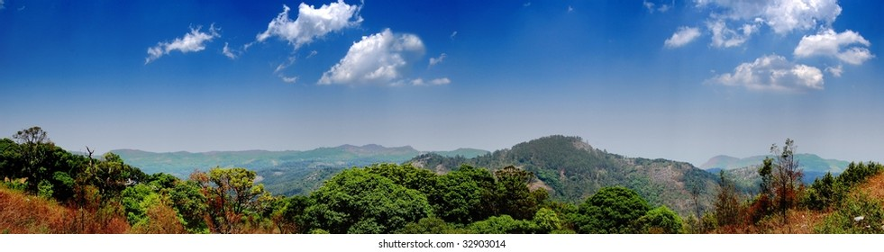 Panoramic view of Yercaud Hills, India