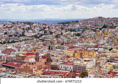 Panoramic View of Zacatecas in Mexico