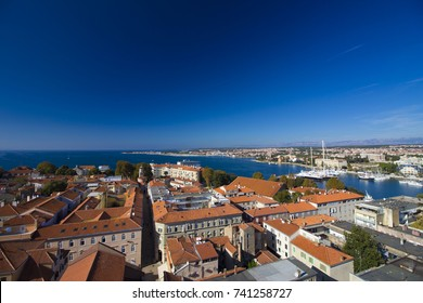 Panoramic view of Zadar from the top of the bell tower, Zadar, Croatia