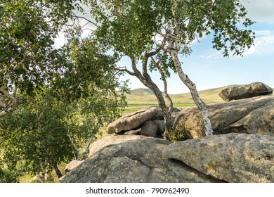 Panoramic views of the Akbaaur tract in the steppes of eastern Kazakhstan