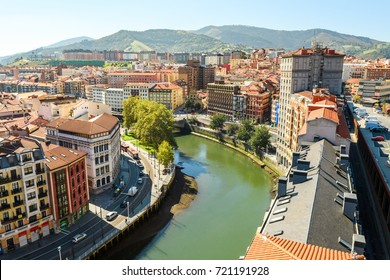 panoramic views to bilbao old town, Spain