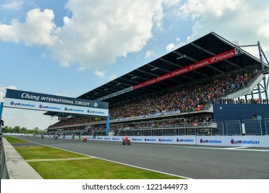 Panoramic Views of Chang International Circuit during The PTT Thailand Grand Prix - MotoGP at Chang International Circuit on October7, 2018 in Burirum ,Thailand