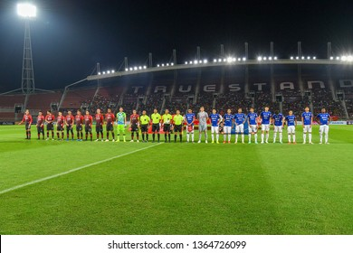 Panoramic views players in action during The Football Thai League 2019 between Bangkok United and SCG Muangthong United at True Stadium on March02,2019 in Pathum Thani, Thailand
