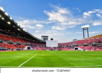Panoramic views of Rajamangala Stadium during 2018 FIFA World Cup Qualifier Group B between Thailand and Iraq at the Rajamangala Stadium on August 31, 2017 in Bangkok,Thailand,