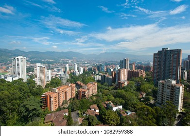 Panoramic views of the aburra´s valley, Medellin Colombia.