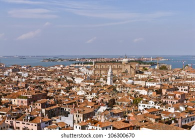 Panoramic views of Venice from Campanile di San Marco. Venice, Italy, Europe