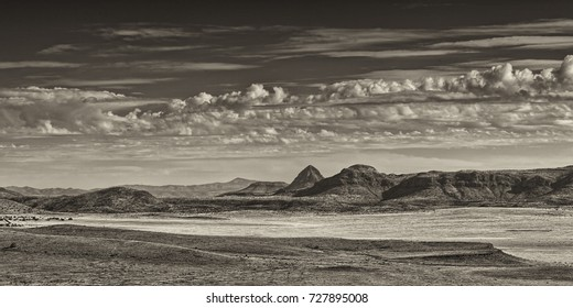 """""""Panoramic West Texas"""" A panoramic view of West Texas, near Fort Davis."""