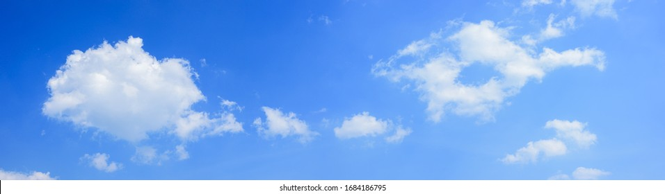 Panoramic white clouds on blue sky