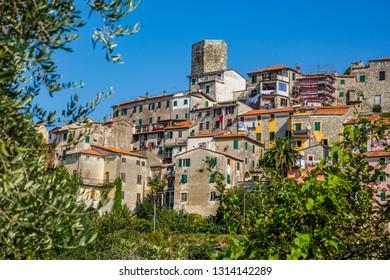 Panoramic wiev of Vezzano Ligure-Liguria-Italy