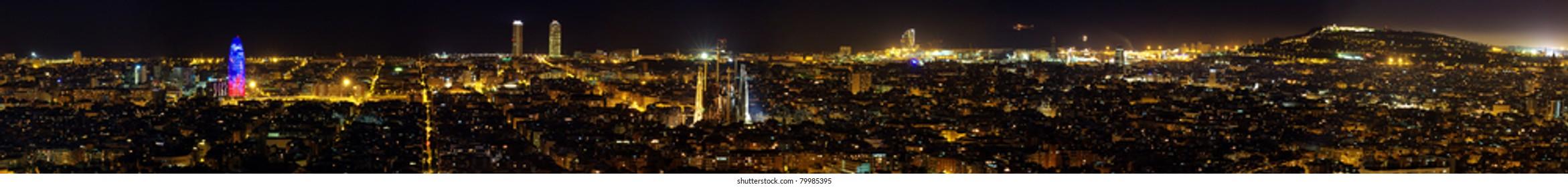 Panoramica Barcelona Noche