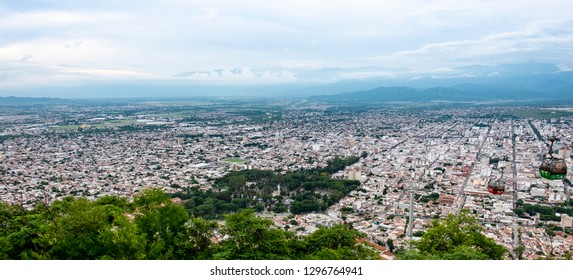 Panoramicview from the cable car of Salta, Argentina - Imagem.