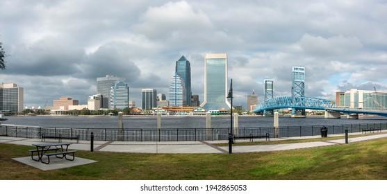 Panotama of Downtown Jacksonville, Florida