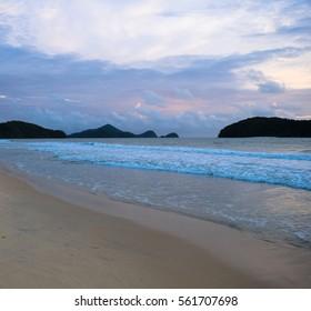 Pantai Tengah (and Pantai Cenang) beach. Langkawi island. Strait of Malacca. Malaysia