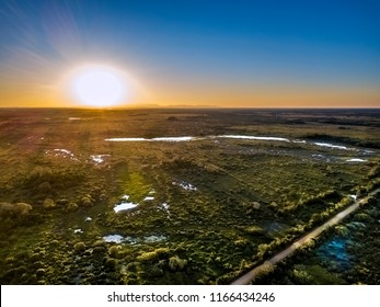Pantanal Sunset photographed in Corumba, Mato Grosso do Sul. Pantanal Biome. Picture made in 2017.