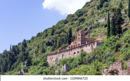 The Pantanassa Monastery in Mystras, Peloponnese, Greece.