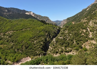 Pantavrechi gorge, view from the top, Evritania, Greece