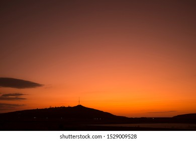pantelleria island, italy at sunset