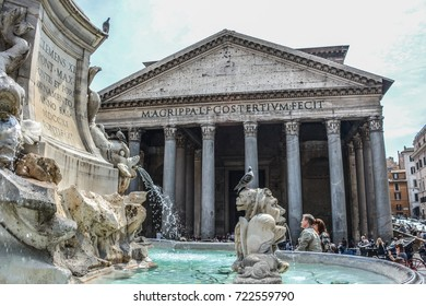 The Pantheon is the best preserved of all Roman buildings. It is  is a former Roman temple, now a church. Must see while in Italy.