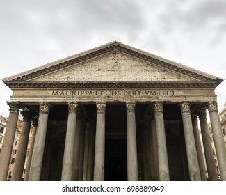 Pantheon,  a former Roman temple, now a church in Rome, Italy