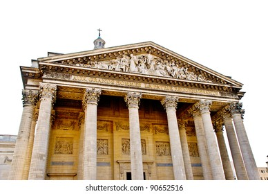 a pantheon in paris isolated on white