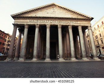 Pantheon at Rome. Famous place at Italy.