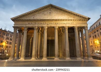 Pantheon . Rome. Italy