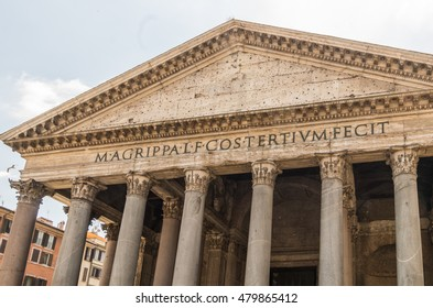 The Pantheon in Rome was once a pagan temple before being dedicated around 126 AD