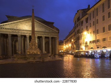 The Pantheon Temple, Rome, Italy