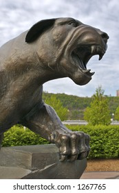 Panther Statue Detail