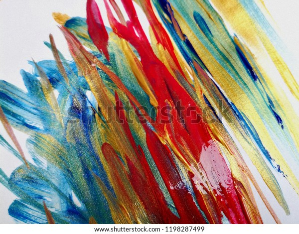 Panting Acrylic Colours Abstract Art Background Royalty
