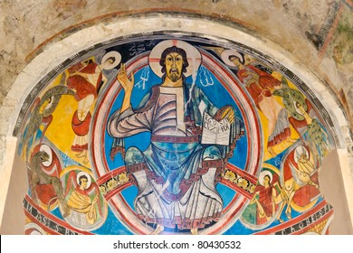Pantocrator in Sant Climent de Taull, Catalonia Spain