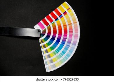 Pantone colors on paper sampler