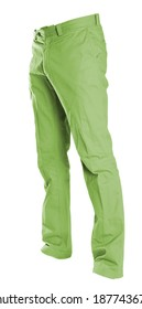 pants isolated on white, ghost fashion style of photography,, green chinos