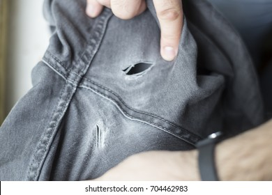 The pants were torn