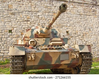 Panzer IV tank on outdoor exibition