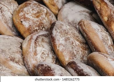 """""""Pao de Centeio"""", a traditional homemade bread of Madeira island."""
