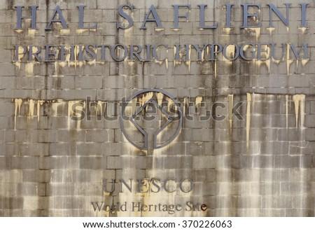 Paola Malta 25 January 2015 Prehistoric Stock Photo Edit Now