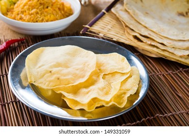 papad or pappadam , indian traditional food