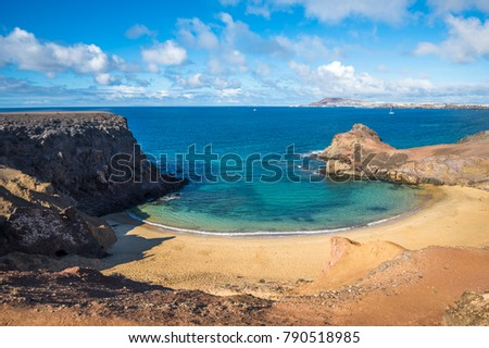 Papagayo Beach, Lanzarote, Canary Islands, Spain