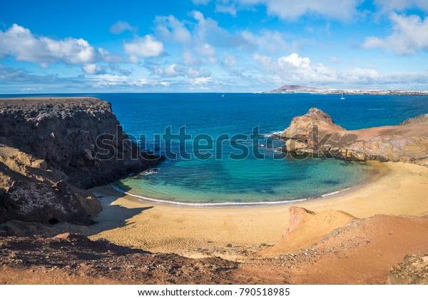Papagayo Beach, Lanzarote, Kanarische Inseln, Spanien