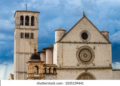 Papal Basilica of Saint Francis of Assisi - Assisi, Province of Perugia, Umbria Region, Italy, Europe