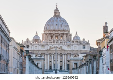 The Papal Basilica of Saint Peter in the Vatican (Basilica Papale di San Pietro in Vaticano), commonly known as Saint Peter's Basilica located within Vatican City in Rome, Italy