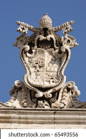 Papal seal in Sain Peter's square, Vatican City