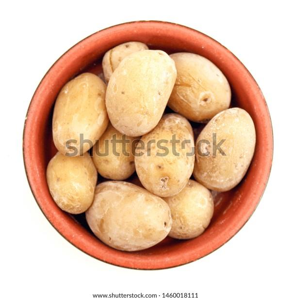 Papas Arrugadas Wrinkled Potatoes Spanish Language Stock