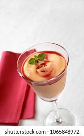 papaya cream and cassis liqueur
