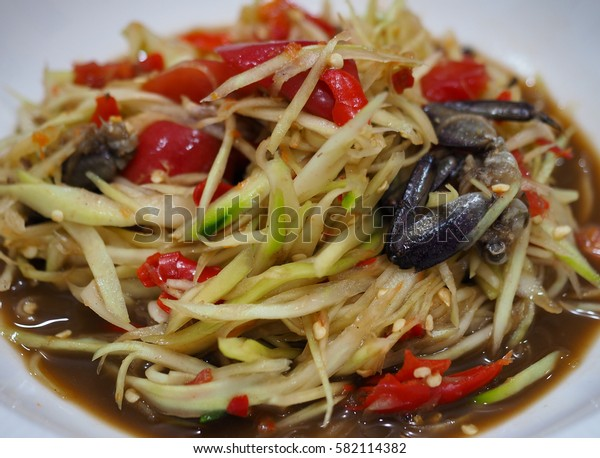 Papaya Salad with Salted Crab
