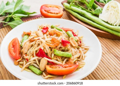 Papaya salad (Som Tum),Thai food