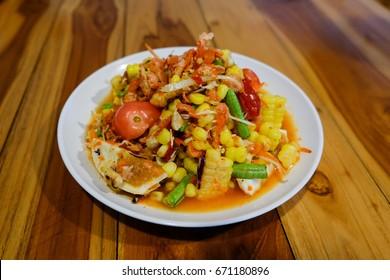 Papaya salad Thai style.